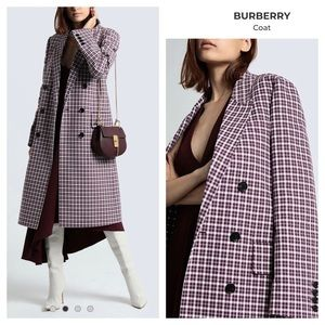 BURBERRY Parwoodul Double Breasted Plaid Coat